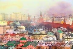 Foto Retro- Moskau der Kreml Stockfotografie