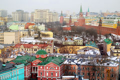 Foto retro Moskou het Kremlin royalty-vrije stock afbeelding