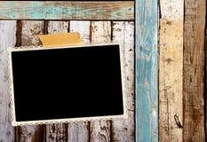 Foto retro na parede de madeira velha fotografia de stock royalty free