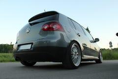Foto` s av en Volkswagen Golf 5 och Volkswagen Golf 6 GTI Arkivbild