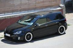 Foto` s av en Volkswagen Golf 5 och Volkswagen Golf 6 GTI Fotografering för Bildbyråer