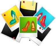 foto's met schoenen met hoge hiel stock illustratie