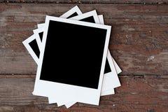 Foto's op houten achtergrond royalty-vrije stock fotografie