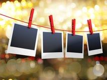 Foto's op kabel vector illustratie