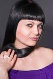 Foto's van de brunette stock fotografie