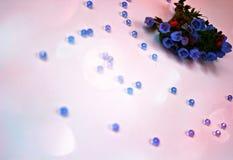 Foto's van tuinbloemen, blauwe klokken Royalty-vrije Stock Afbeelding