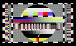 Foto schoss vom industriellen Farbfernsehen-Teststandardblatt Lizenzfreie Stockbilder