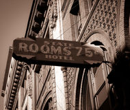 Foto Seattles Washington des historischen Signage für Hotel Lizenzfreies Stockfoto