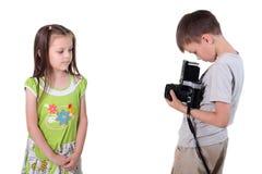 Foto-sesión juguetona Fotos de archivo libres de regalías