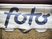 Foto sign Stock Photo