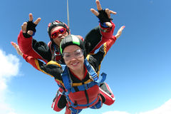 foto som skydiving Royaltyfri Bild