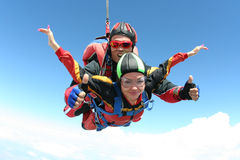 foto som skydiving Royaltyfri Fotografi