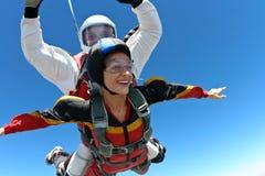 foto som skydiving Arkivbilder