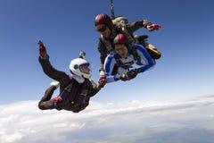 foto som skydiving arkivfoton