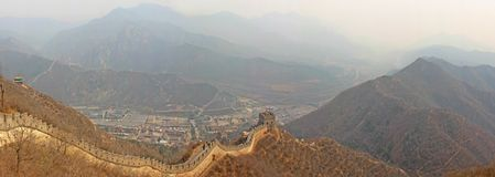 Foto som tas i Kina Stor vägg av Kina, panorama royaltyfri foto