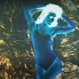 Foto stilizzata della ragazza di dancing fotografia stock