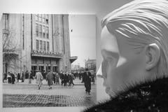 Foto storica all'interno del centro commerciale Fotografia Stock Libera da Diritti