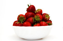 Foto of strawberry in bowl in studio Stock Images