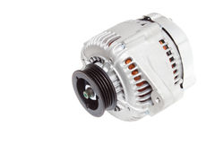 Foto sulla composizione delle tre parti per il motore Generatore, compressore del condizionamento d'aria ed il dispositivo d'avvi Immagine Stock