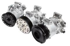 Foto sulla composizione delle tre parti per il motore Generatore, compressore del condizionamento d'aria ed il dispositivo d'avvi Fotografia Stock Libera da Diritti
