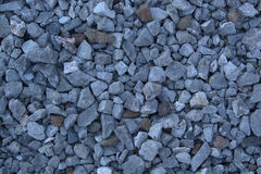 Foto superficial de piedra machacada Imágenes de archivo libres de regalías
