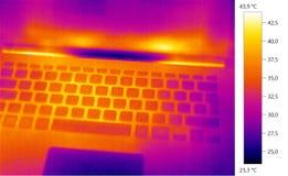 Foto térmica da imagem, escala de cor do portátil Fotos de Stock
