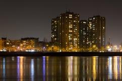 Novi Sad en la noche Foto de archivo libre de regalías