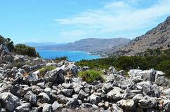 Foto tomada na ilha grega do Rodes imagens de stock