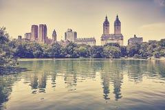 Foto tonificada retro do Central Park, New York Fotografia de Stock
