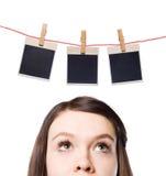 Foto. Träume einer jungen Frau. Stockbilder