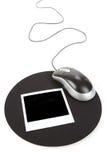 Foto-und Computer-Maus Stockbild