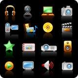 Foto- und Video_blackhintergrund Lizenzfreies Stockbild