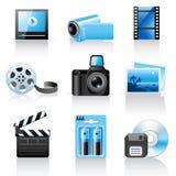 Foto- und Videoikonen lizenzfreie abbildung