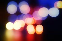 Foto undeutlich vom hellen Nachtlicht Stockfotos