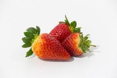 Foto van aardbeien stock afbeeldingen