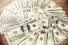 Foto van bankbiljetten van de dollars van Verenigde Staten Royalty-vrije Stock Foto
