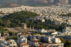 Foto van beroemd Roman Agora, het historische centrum van Athene, Attica, Griekenland stock fotografie