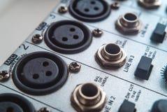 Foto van de analoge audiomixer royalty-vrije stock afbeelding