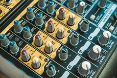Foto van de analoge mixer royalty-vrije stock foto's