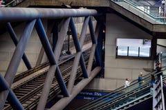 Foto van de bewegingen van een station en zijn gebruikers Stock Afbeeldingen