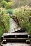 Gebroken oude brug Stock Fotografie