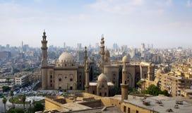 Foto van de horizon van Kaïro, Egypte Royalty-vrije Stock Fotografie
