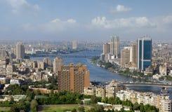 Foto van de horizon van Kaïro, Egypte stock afbeeldingen