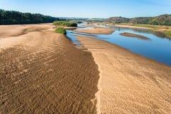 Foto van de Lucht van het Zand van de Bank van de rivier de Lage Royalty-vrije Stock Fotografie