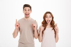Foto van de mens en de vrouw die van jongerenjaren '20 Europese appearan hebben Stock Fotografie