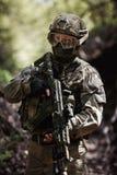 Foto van de mens met kanon royalty-vrije stock fotografie