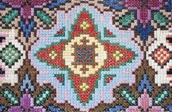 Foto van de oppervlakte van het met de hand gemaakte tapijt stock afbeelding