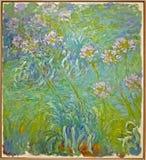 Foto van de originele het schilderen ` Waterlelies ` door Claude Monet Royalty-vrije Stock Foto