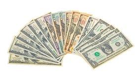 Foto van de verschillende dollars van de bankbiljettenV.S. Royalty-vrije Stock Foto