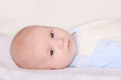 Foto van een aanbiddelijke baby Stock Foto